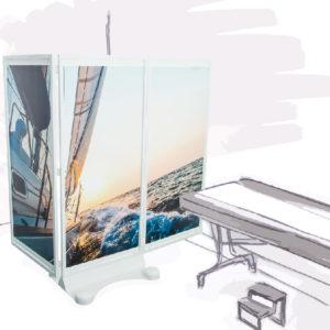 NOMADE-Activ Air ® – paravent mobile à la stabilité renforcée