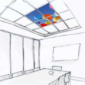 HAPPYSKY ® – dalle de faux plafond décorative